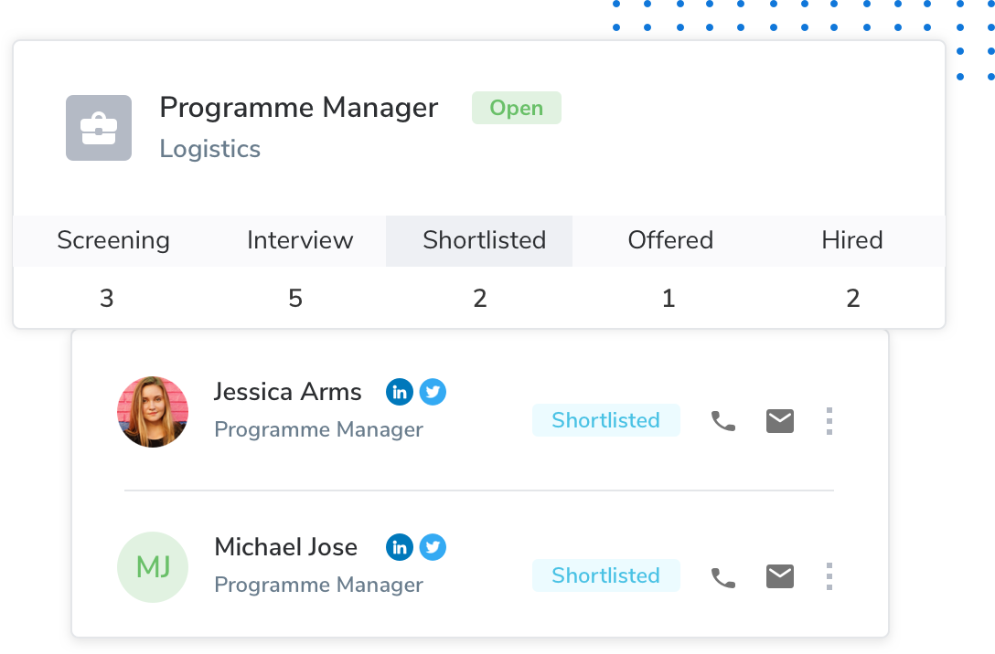 Post and keep track of your openings with Keka's Applicant Tracking System